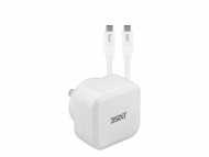 3SIXT Wall Charger AU 30W USB-C PD + USB-C/C Cable - White
