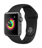 Apple Watch Series 3 - 38mm Space Grey Aluminium Case - Black Sport Band