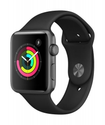 Apple Watch Series 3 - 42mm Space Grey Aluminium Case - Black Sport Band
