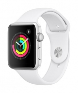Apple Watch Series 3 - 42mm Silver Aluminium Case - White Sport Band